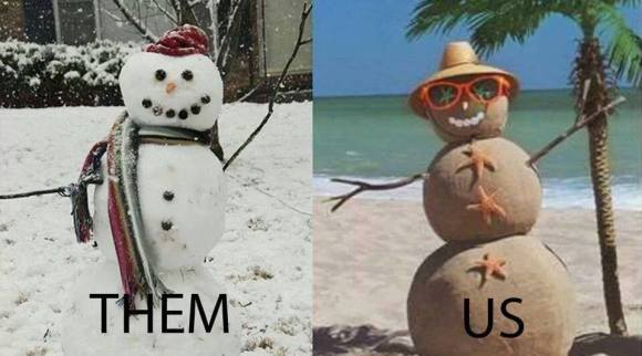 The snowman sandman battle