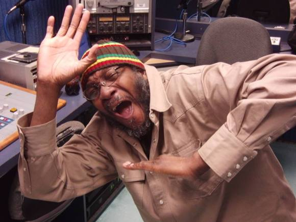 Being silly on the radio