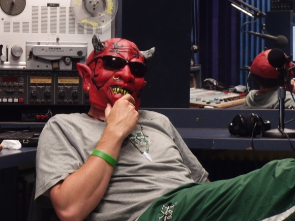 The devil came to visit the radio station